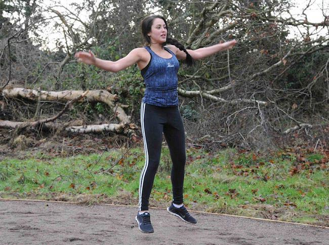 Geordie Shore's Marnie Simpson working out in park
