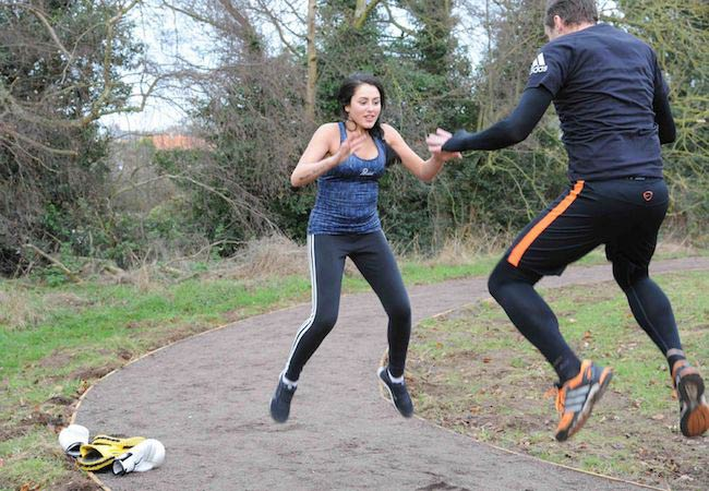Geordie Shore's Marnie Simpson working out with trainer