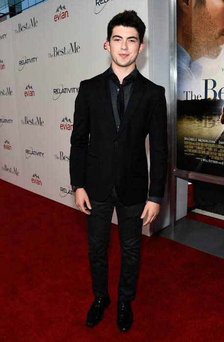 Ian Nelson at The Best Of Me premiere in October 2014 in Los Angeles