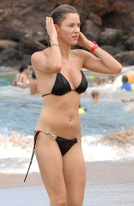 Jill Wagner in bikini at a Maui Beach in 2014