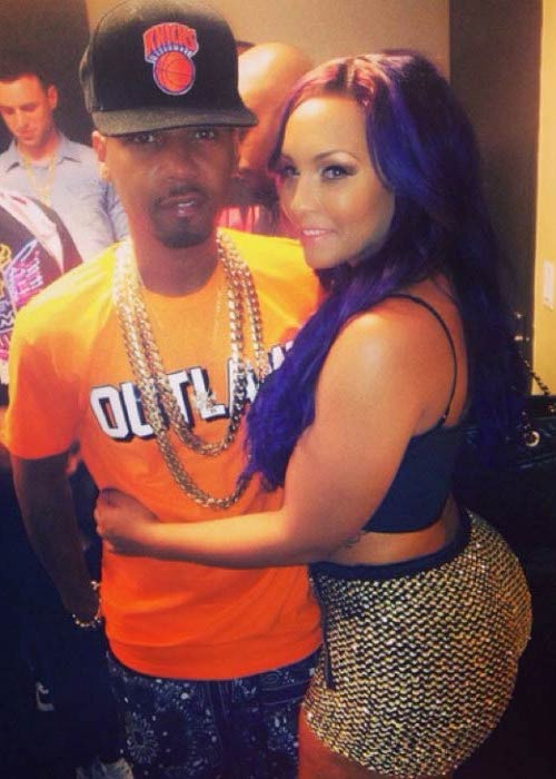 Juelz Santana and Kimbella Vanderhee at a private party