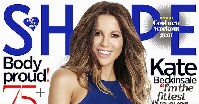 Kate Beckinsale for Shape magazine's January 2017 edition