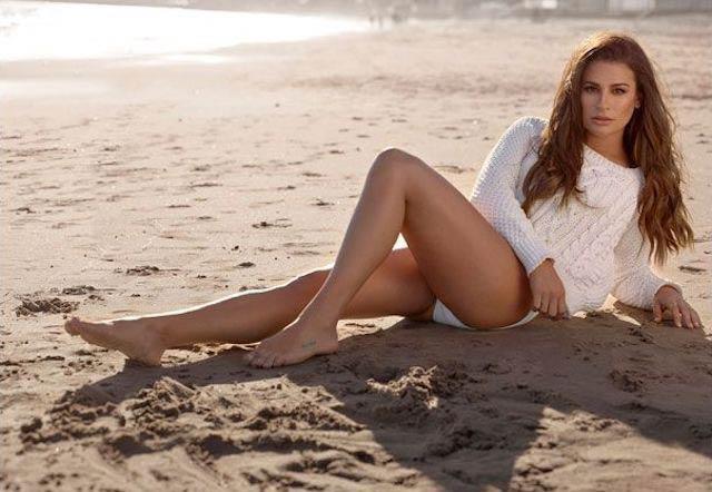Lea Michele posing for SHAPE Magazine