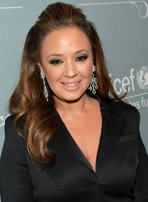 Leah Remini at the UNICEF Ball presented by Baccarat in January 2014