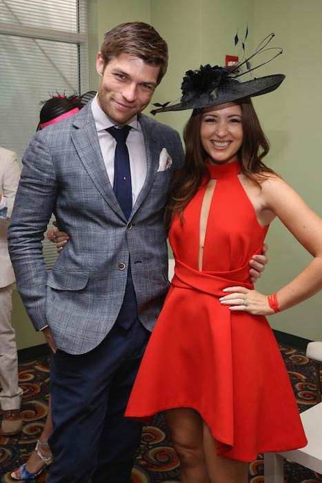 Liam McIntyre and Erin McIntyre at the 141st Kentucky Derby in May 2015