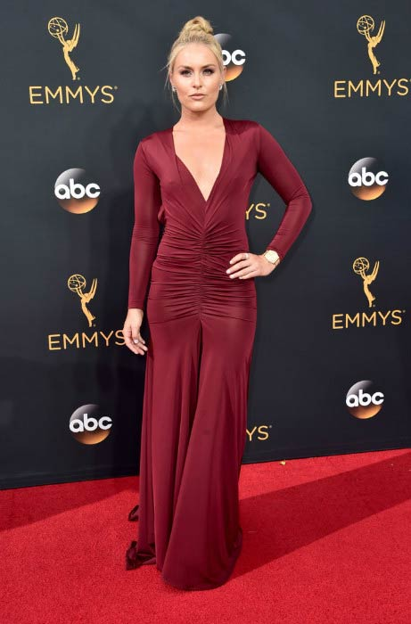 Lindsey Vonn at the 68th Annual Primetime Emmy Awards in September 2016