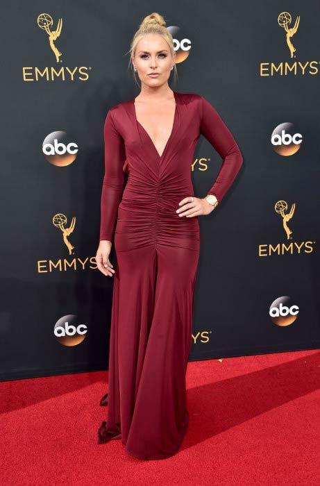 Lindsey Vonn at the 68th Annual Primetime Emmy Awards in September 2016