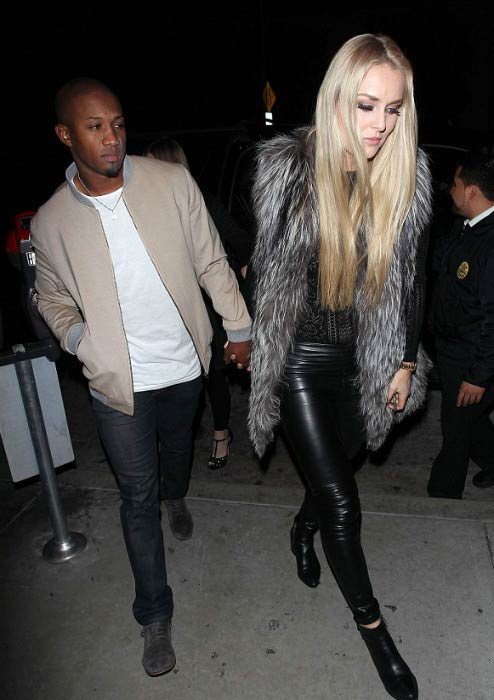 Lindsey Vonn and Kenan Smith leaving Catch restaurant in West Hollywood in December 2016