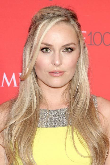 Lindsey Vonn at the Time 100 Gala in April 2016