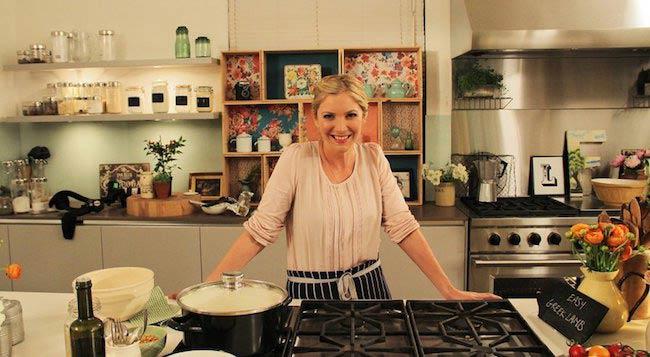 Lisa Faulkner in kitchen
