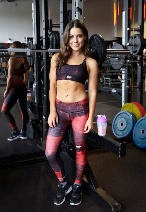 Louise Thompson in the gym