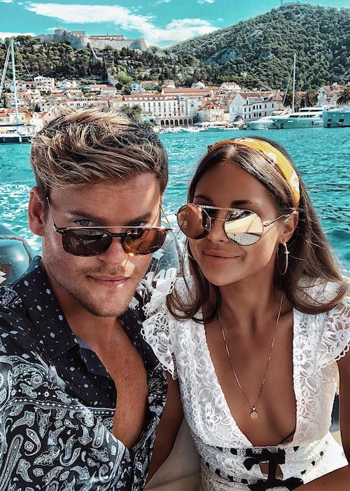 Louise Thompson with boyfriend Ryan Libbey spending time together at Croatia in July 2018