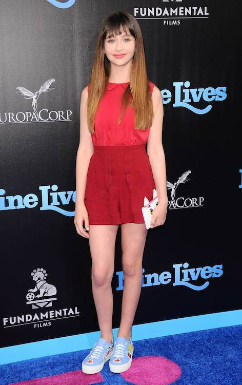 """Malina Weissman at """"Nine Lives"""" premiere in Los Angeles in August 2016"""