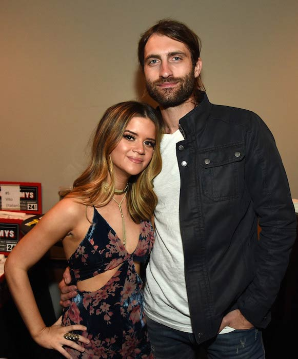 Maren Morris and boyfriend Ryan Hurd at the Bridgestone Arena on April 12, 2016