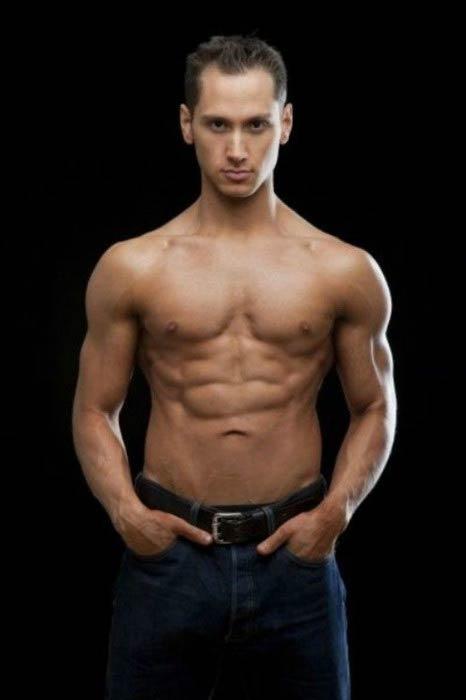 Matt McGorry shirtless body during a photoshoot