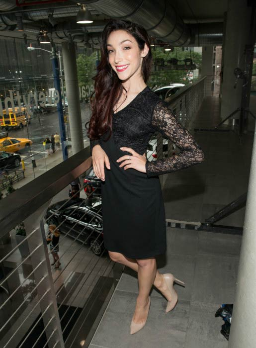 Meryl Davis at the Role Models Not Runway Models Fashion Show in September 2015