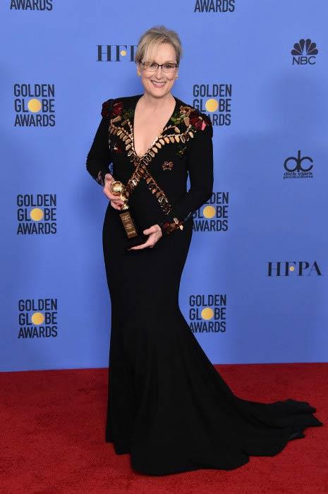 Meryl Streep during the 2017 Golden Globe Awards
