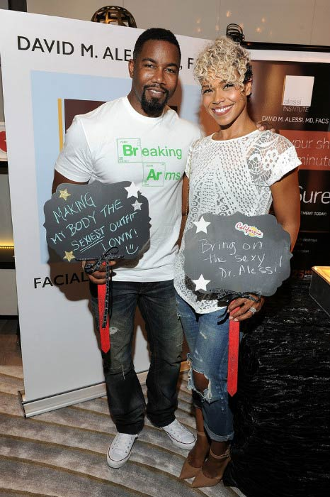 Michael Jai White and Gillian Waters at the GBK & LifeCell 2016 Pre Oscar Lounge in February 2016