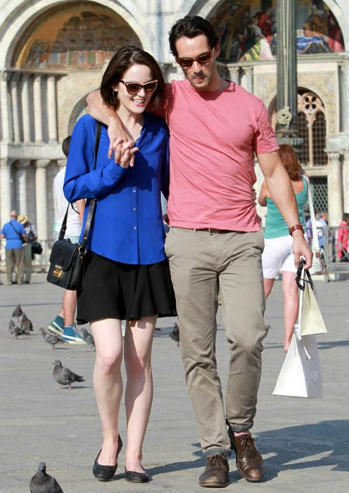 Michelle Dockery and John Dineen while sightseeing in Venice in August 2013