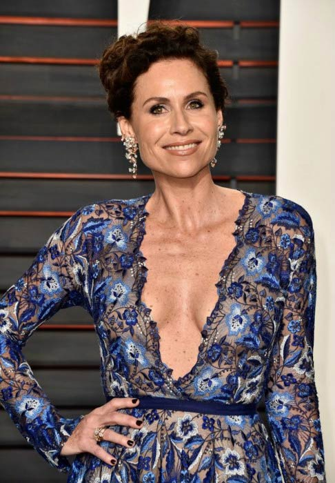 Minnie Driver at the Vanity Fair Oscar Party in February 2016