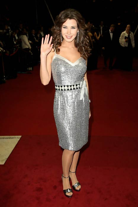 Nancy Ajram at the World Music Awards in November 2008 in Monaco