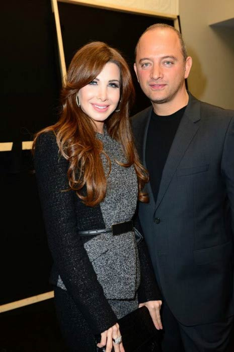 Nancy Ajram and her husband Dr. Fadi El Hachem during a private party