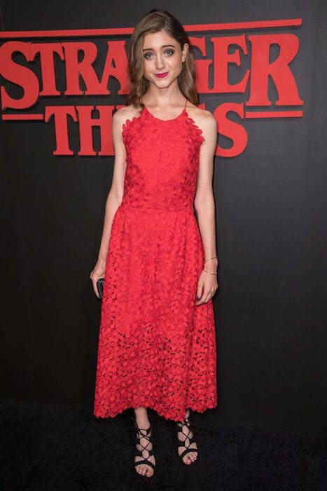 Natalia Dyer at Stranger Things LA premiere in July 2016