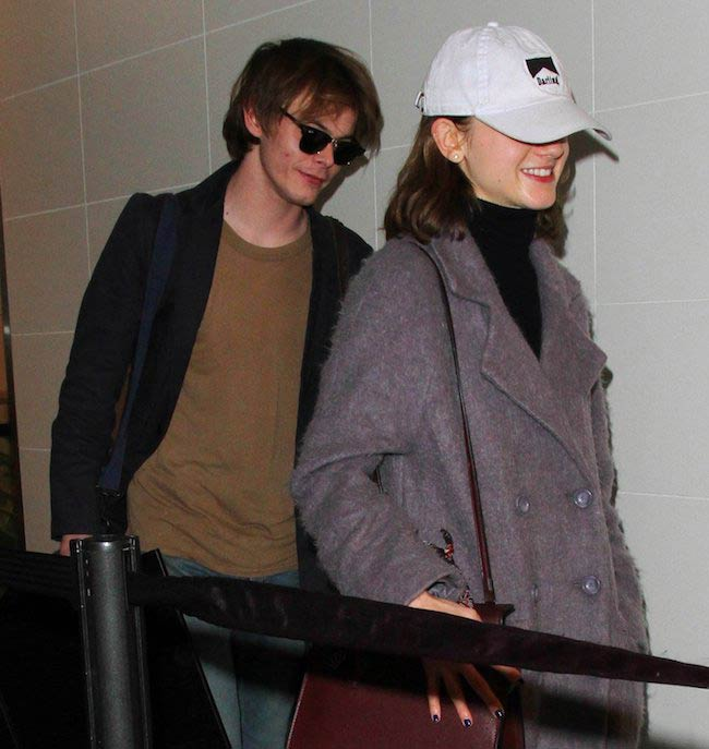 Natalie Dyer and Charlie Heaton