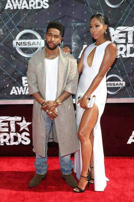 Omarion and his girlfriend Apryl Jones at BET Awards 2015