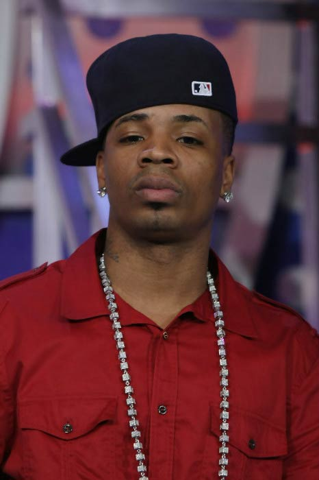 "Plies at BET's ""106 & Park"" event in April 2010"