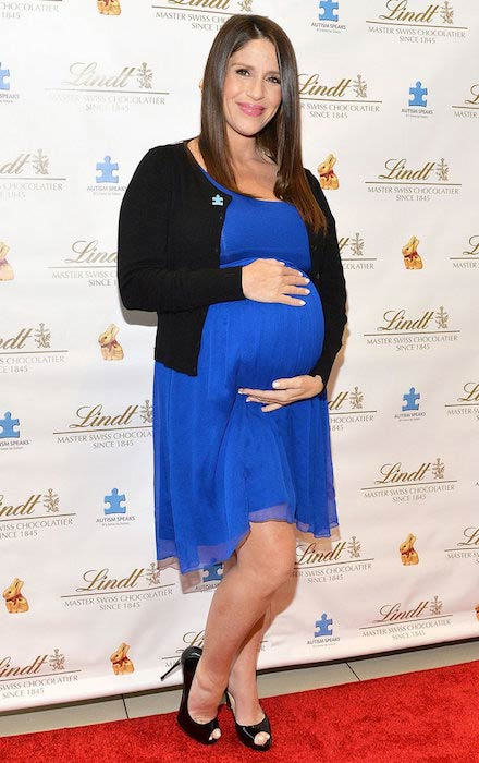 Pregnant Soleil Moon Frye in March 2016 Lindt event