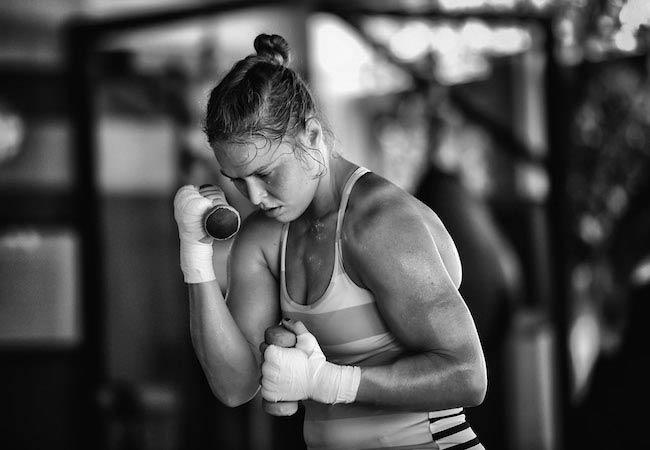 Ronda Rousey UFC training
