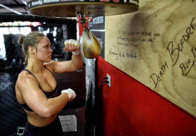 Ronda Rousey boxing workout