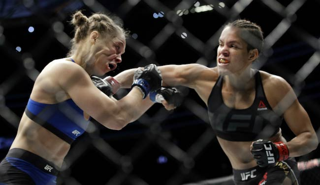 Ronda Rousey in a fight with Amanda Nunes