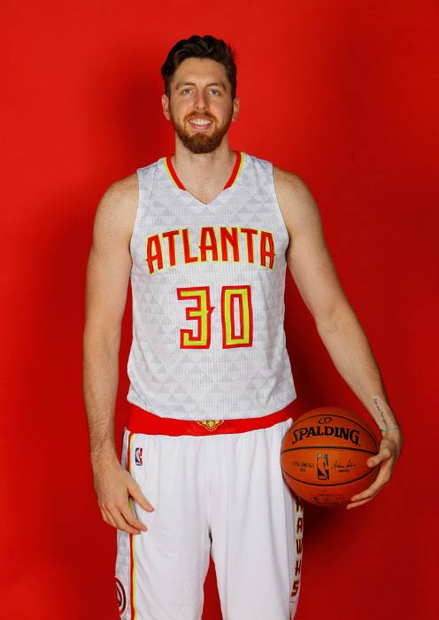 Ryan Kelly poses for Atlanta Hawks during media day on September 26, 2016