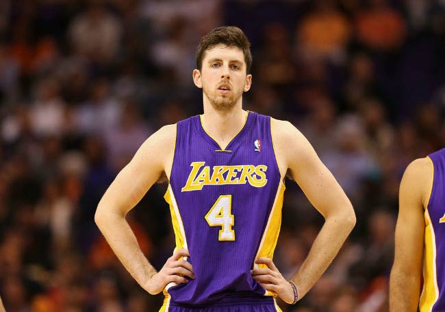 Ryan Kelly during a NBA game between Los Angeles Lakers and the Phoenix Suns in January 2014