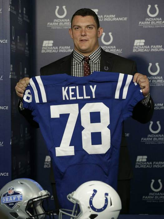 Ryan Kelly at his unveiling event for the Indianapolis Colts in May 2016