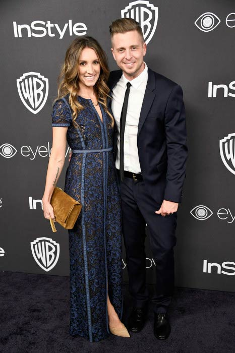 Ryan Tedder and his wife Genevieve Tedder at the 18th Annual Post-Golden Globes Party in January 2017