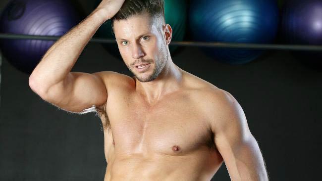 Sam Wood shirtless body