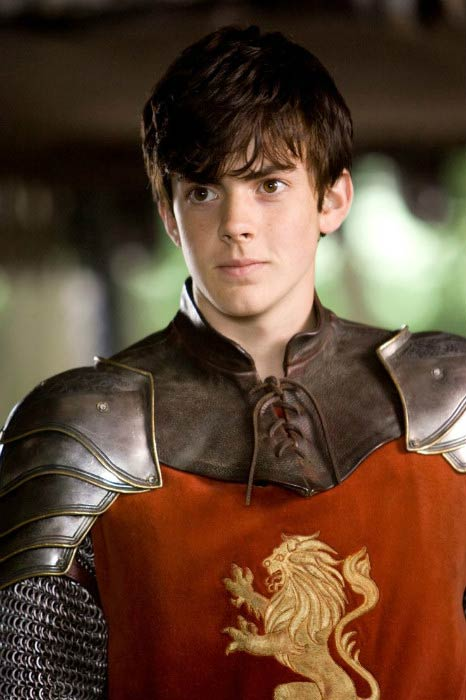 Skandar Keynes in a shot taken from his film The Chronicles of Narnia: Prince Caspian