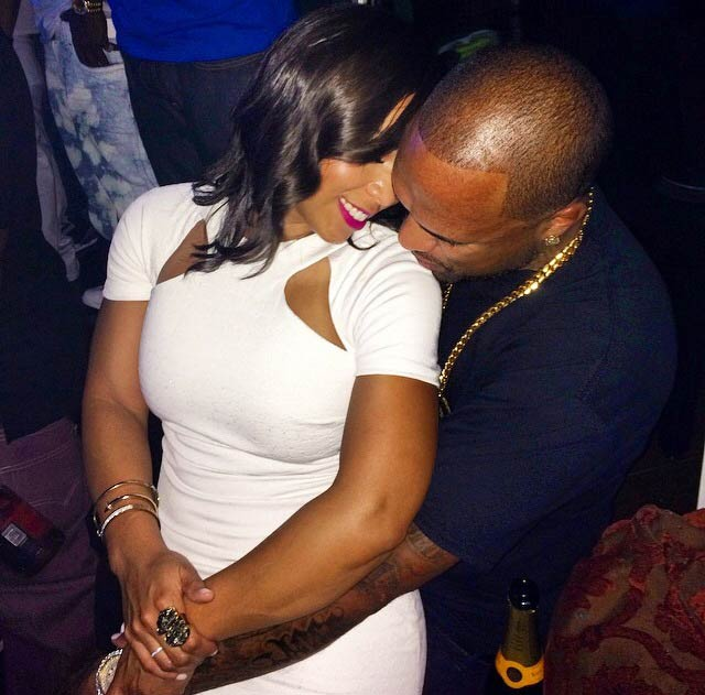 Slim Thug and Alicia Jammer at his 34th birthday party in September 2014