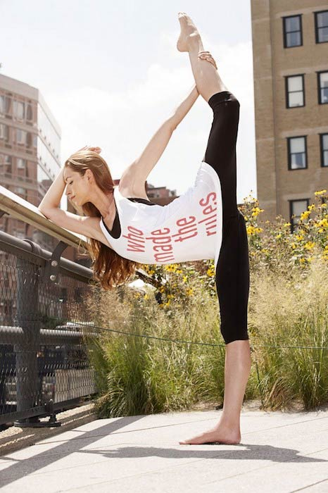 Tara Stiles in a yoga pose