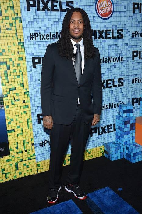 "Waka Flocka Flame at ""Pixels"" premiere in July 2015"