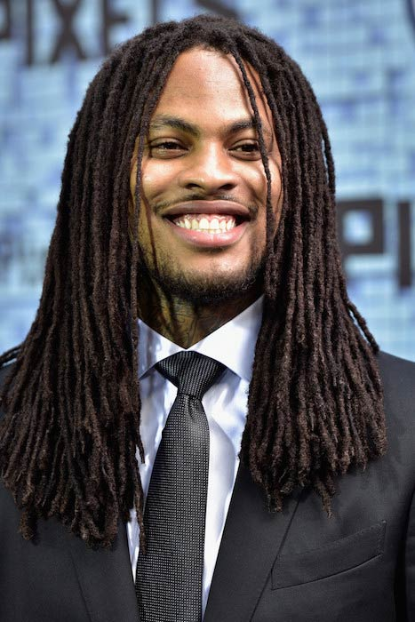 Waka Flocka Flame at the 'Pixels' New York premiere in July 2015