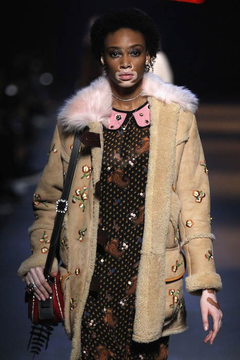 Winnie Harlow at Coach 75th Anniversary: Women's Pre-Fall and Men's Fall Show runway in December 2016