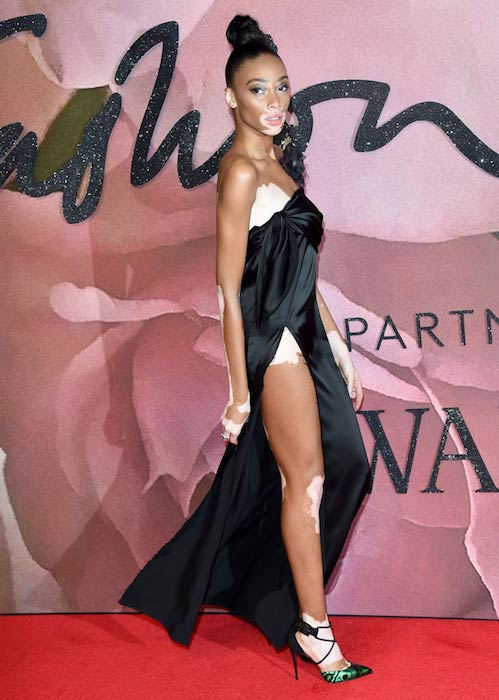 Winnie Harlow at The Fashion Awards 2016 in London