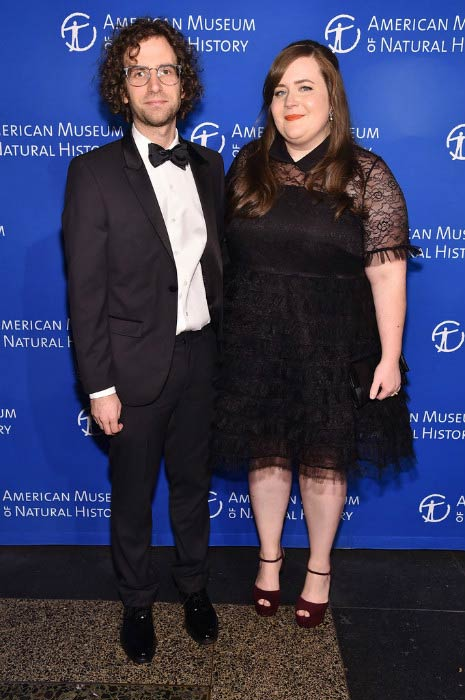 Aidy Bryant and Conner O'Malley at the 2016 American Museum of Natural History