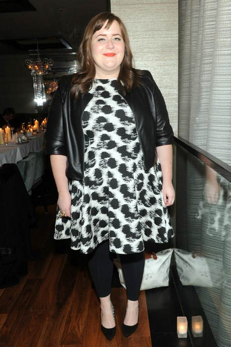 Aidy Bryant at the Mercedes-Benz Fashion Week After Party in February 2014
