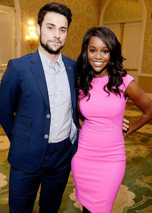 Aja Naomi King and Jack Falahee at the 2015 AFI Awards Luncheon