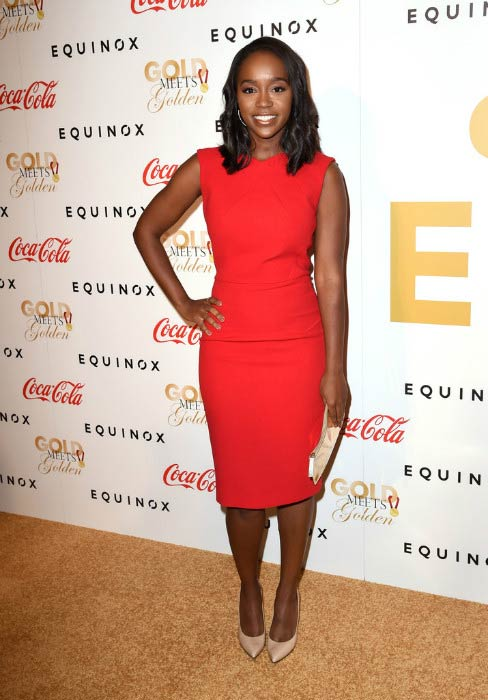 Aja Naomi King at the Life is Good at GOLD MEETS GOLDEN Event in January 2017